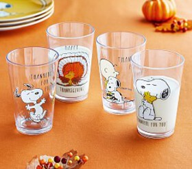 Pottery Barn Peanuts® Thanksgiving Tumblers
