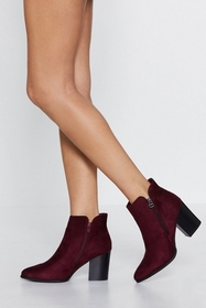 Nasty Gal Pull You to the Side Zip Bootie
