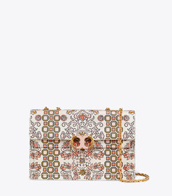 Tory Burch GEMINI LINK PRINTED LARGE CHAIN SHOULDE