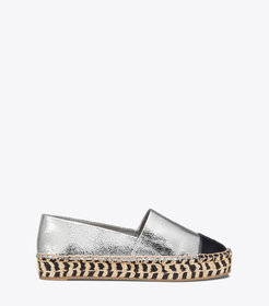 Tory Burch Color-Block Metallic Platform Espadrill