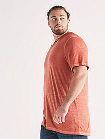 Lucky Brand Big And Tall Venice Burnout Notch Tee