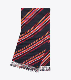 Tory Burch VIVD STRIPE OBLONG SCARF