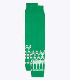 Tory Burch MERINO FAIR ISLE LEG WARMERS