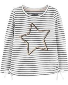 carters Toddler Girl Side Bow Star Tee