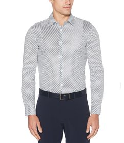 Perry Ellis Big & Tall Dot Print Stain Resistant W