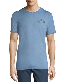 Antony Morato Men's Star-Patch Vintage Wash T-Shir