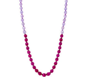 """Honora Cultured Pearl 30"""" Tonal Necklace, Sterling"""