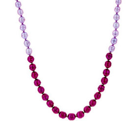 """Honora Cultured Pearl 24"""" Tonal Necklace, Sterling"""