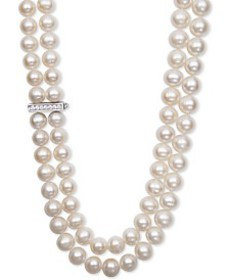 White Cultured Freshwater Pearl (8-1/2mm) and Cubi