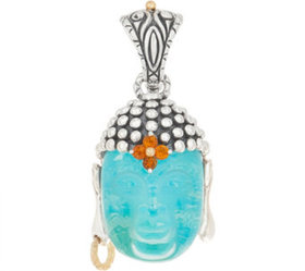 Barbara Bixby Sterling Silver & 18K Turquoise Doub