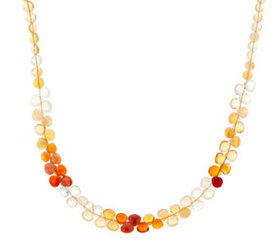 """""""As Is"""" Colors of Fire Opal Bead Necklace, Sterlin"""