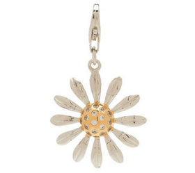 """As Is"" Isaac Mizrahi Live Diamonique Daisy Charm"