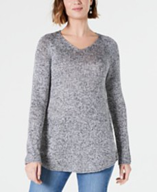 Style & Co Marled V-Neck Sweater, Created for Macy