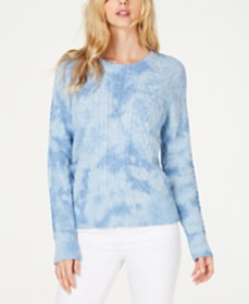 I.N.C. Cotton Chunky Cable-Knit Sweater, Created f