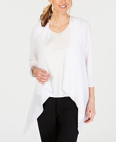 JM Collection Studded Draped Cardigan, Created for