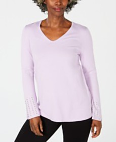 JM Collection Embellished-Sleeve Sweater, Created