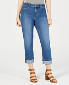 Style & Co Curvy-Fit Capri Jeans, Created for Macy