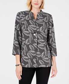 JM Collection Printed Single-Button Jacket, Create