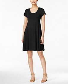 Style & Co Short-Sleeve A-Line Dress, Created for