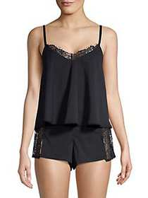 French Connection 2-Piece Lace-Trimmed Pajama Set