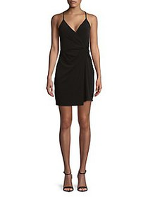 BCBGeneration Sleeveless Twist-Front Surplice Dres