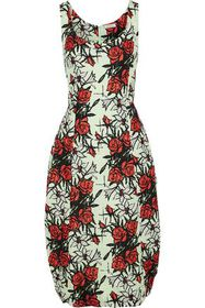 NINA RICCI Floral-print silk-blend cloqué dress