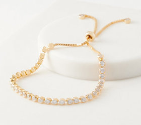 Diamonique 4.00 ct Adjustable Tennis Bracelet Ster