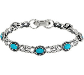 American West Sleeping Beauty Turquoise Sterling S