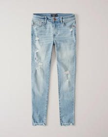 Ripped Low Rise Ankle Jeans, Ripped Light Wash