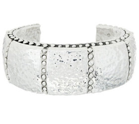 """""""As Is"""" Simon Sebbag Sterling Silver Hammered Cuff"""
