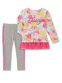 Juicy Couture Little Girl's 2-Piece Floral Tunic a