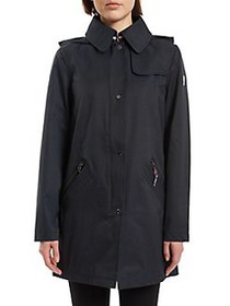 Vince Camuto Hooded Snap Jacket NAVY