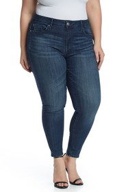Seven7 Mid Rise Skinny Jeans (Plus Size)