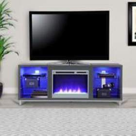 Ameriwood Home Lumina Fireplace TV Stand for TVs u