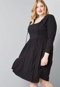 ModCloth To Your Liking Knit Dress Black