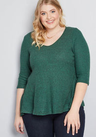 Cozy Accuracy Knit Top in Green