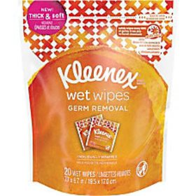 Kleenex Germ Removal Wrapped Wipes White