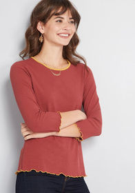 ModCloth Move With You Knit Top Dark Pink