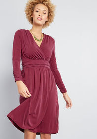 ModCloth Don and Done Knit Dress Wine