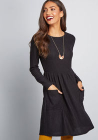 Pleased to Be Me Sweater Dress Black