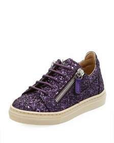 Giuseppe Zanotti Old Glitter Low-Top Sneaker Toddl