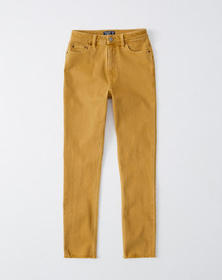 High Rise Slim Jeans, YELLOW