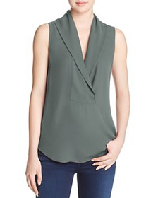 Theory - Shawl Collar Silk Top