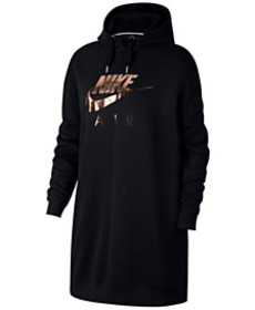 Nike Sportswear Metallic-Logo Oversized Fleece Hoo