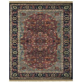 Barcroft Hand-Tufted Wool Brown Area Rug