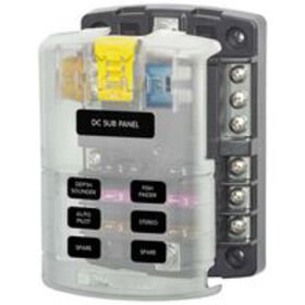ST Blade Fuse Block – 6 Circuits with Negative Bus