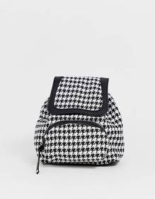 Pieces houndstooth backpack