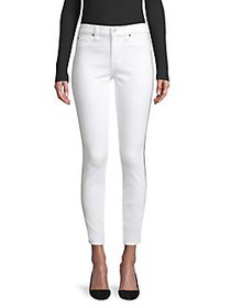7 For All Mankind Stretch Ankle Skinny Jeans WHITE