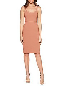 Bardot Textured Sleeveless Sheath Dress CHESTNUT