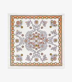 Tory Burch HICKS GARDEN SILK NECKERCHIEF